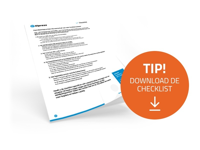 Download de checklist voor krattenwassers
